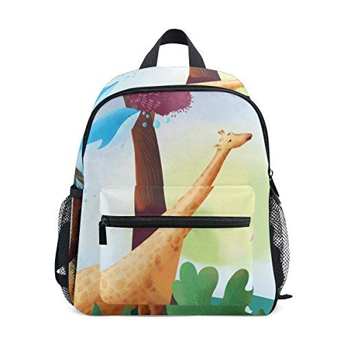 Mochila de Viaje con diseño de Jirafa y Ballena voladora, para niños y niñas