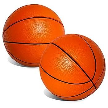 "Mini 5"" Orange Foam Basketballs for Skywalker Sports Trampoline Basketball Hoop Game   Replacement Foam Basketballs for Trampoline Basketball Sets   Set of 2 Balls"