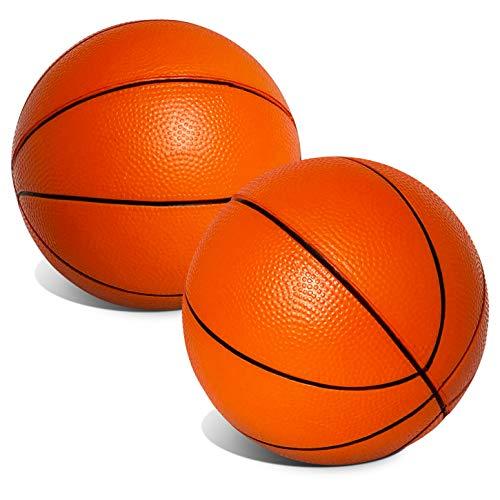 "Mini 5"" Orange Foam Basketballs for Skywalker Sports Trampoline Basketball Hoop Game | Replacement Foam Basketballs for Trampoline Basketball Sets | Set of 2 Balls"