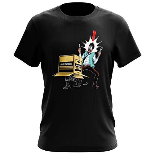 T-Shirt Homme Noir Parodie Metal Gear Solid - Solid Snake - Colis piégé. : (T-Shirt de qualité Premium de Taille S - imprimé en France)