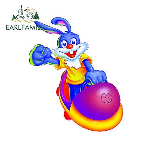 A/X 13 cm 10,7 cm Pegatina de Parachoques de Coche para Bugs Bunny Pegatinas de reparación de patrón calcomanía Fina Maleta decoración de Coche Deportivo