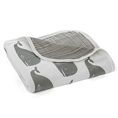 Milkbarn Stroller Baby Blanket (Whale)