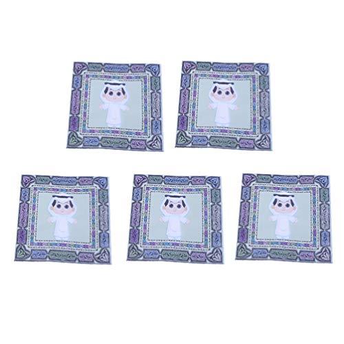 Amosfun 100 Stück Gesichtspapier Eid arabisch muslimisch Holz Zellstoff Toilettenpapier Einweg Hand Reinigung Tuch Abendessen Serviette (grün)