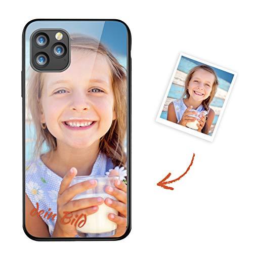 Suhctup Personalisierte Handyhülle für Huawei Mate 30 Pro, Kratzfest Gehärtetes Glas Schutzhülle, Selbst Gestalten Brauch Bildern oder Text, Valentinstag Geburtstag Jahrestag Geschenk