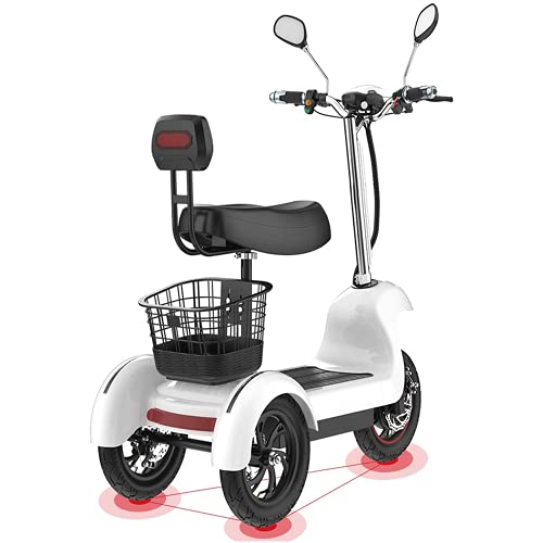 ZYW Triciclo Eléctrico Scooter-3 Ruedas Scooter Eléctrico Adulto/Anciano Ocio Scooter 500W 12