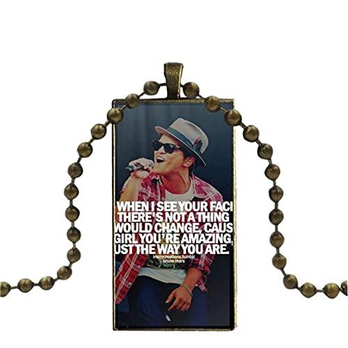 WEIMING Bruno Mars Moonshine Jungle Tour para Mujer, Colgante de Cristal para...
