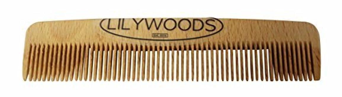 ベアリングサークルゆるいオプショナルLilywoods 13cm Wooden Baby Hair Comb - made of Natural Beechwood - for Infants and Children [並行輸入品]