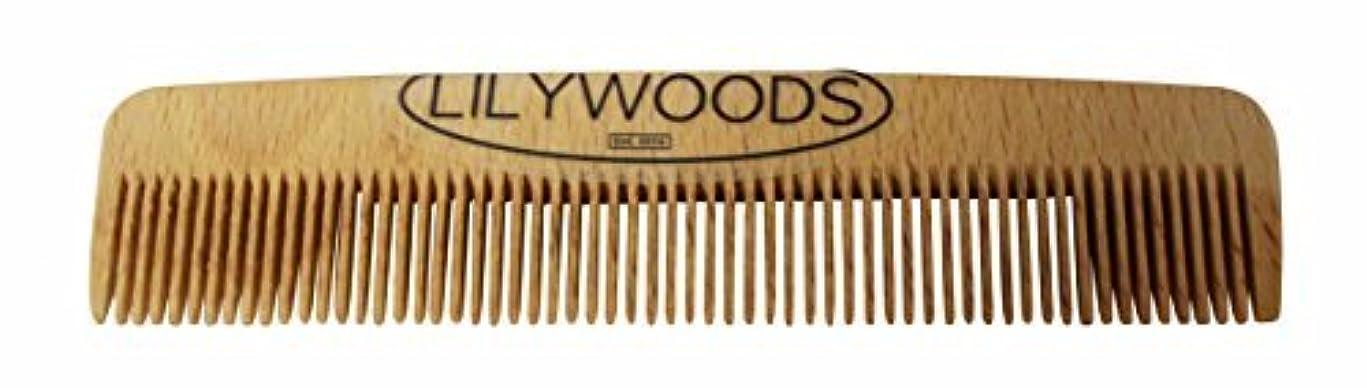 超越する精通した役割Lilywoods 13cm Wooden Baby Hair Comb - made of Natural Beechwood - for Infants and Children [並行輸入品]