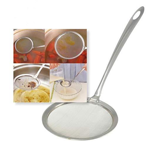Zonster 1pc Kichen alimento del Acero Clip Snack-freidora colador de Malla para freír Frito Tong colador del Filtro de Aceite Escurridor Buffet de Barbacoa Pinzas Porción,26cm