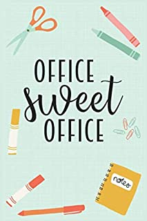 Office Sweet Office: teacher appreciation gift, Teacher Gifts, Lined Journal, appreciation gift, Teacher Notes educator Gift