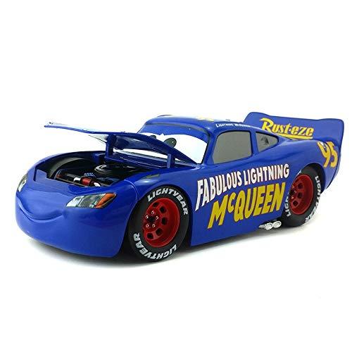 Disney Disney Pixar Cars 3 Large No.95 Lightning McQueen Cruz Ramirez Jackson Storm Metal Diecast Toy Car 1:24 Loose in Stock Fabulous McQueen