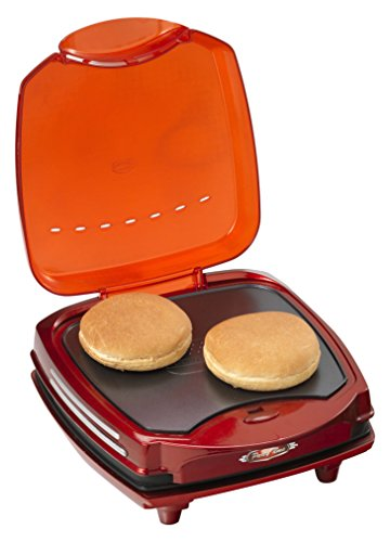 Ariete Hamburger Maker 185 MAQUINA DE HAMBURGUESAS PARTY TIME, 1200 W, Grate + Griddle, Rojo