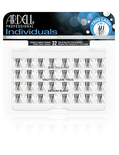 Ardell Individual Trios Eyelash, Black, Medium