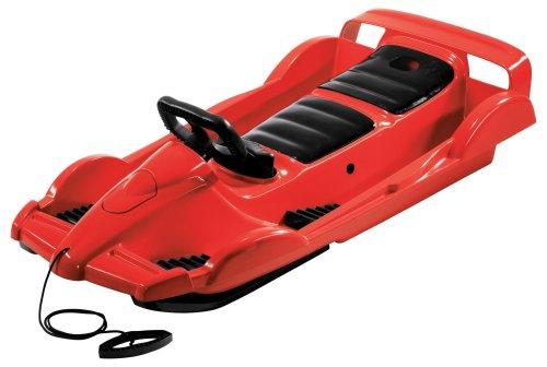AlpenGaudi Unisex Doublerace Rot Doppelsitzer Schlitten, rot, 114x55x28 cm EU
