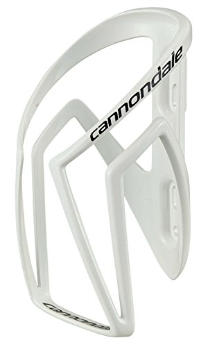 Cannondale Nylon Speed-C Bottle Cage - White / Bicycle Cycling Cycle Biking Bike Riding Ride Bidon Flask Vessel Canteen Holder Bracket Clip Mount Hydration Hydrate Drinking Drink Water Store Storage Accessories Part Lightweight Light Plastic Road MTB Mountain Racing Race Universal Fit