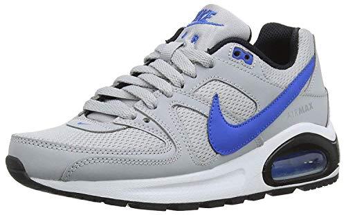 Nike Jungen Air Max Command Flex (ps) Laufschuhe, Mehrfarbig (Wolf Grey/Signal Blue-Black-White 007), 29.5 EU