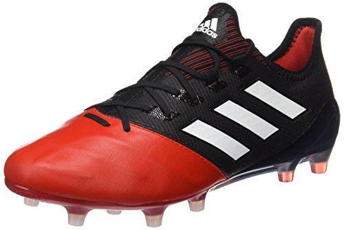 adidas Herren Ace 17.1 Leather Fg für Fußballtrainingsschuhe, Schwarz (Nero Negbas/Ftwbla/Rojo), 48 2/3 EU