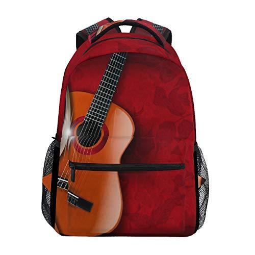 WowPrint Sac à dos guitare musicale sac à dos sac d'école sac à dos sac à dos sac à dos sac à dos sac de voyage sac