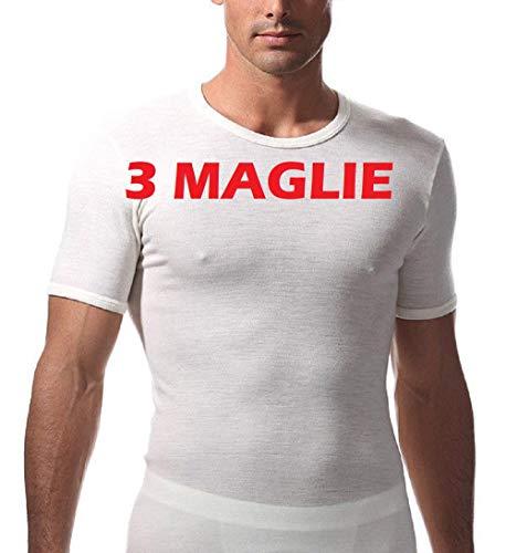 RAGNO 3 Maglia Intima Uomo Manica Corta Art. 60037 100% Lana Merino TG. 4