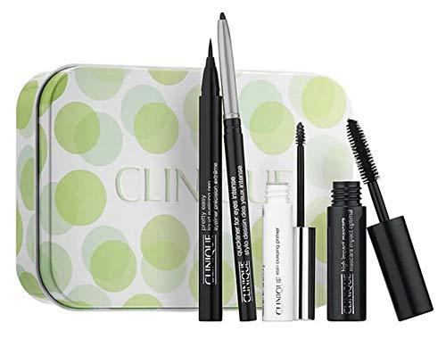 Clinique Make-up Augen Geschenkset Pretty Easy Liquid Liner Pen Black 0,34 g + Quickliner For Eyes Intense Black 0,14 g + Lash Building Primer 2,4 g +