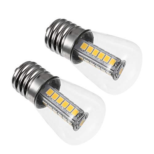 OSALADI 2Pcs Ampoules de Four E17 LED Ampoules à Incandescence Résistantes Aux Hautes Températures Ampoules en Verre Clair pour Four Cuisinière Réfrigérateur Micro- Ondes 220 V