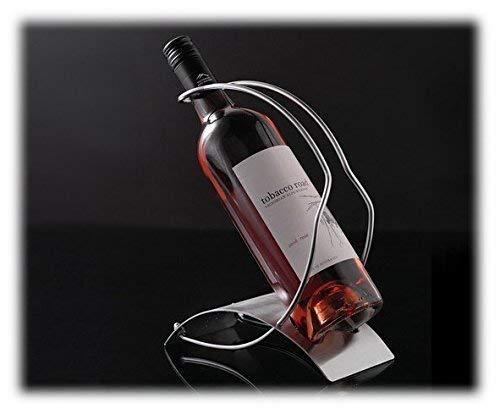 ASC - Soporte para botella de vino (acero pulido)