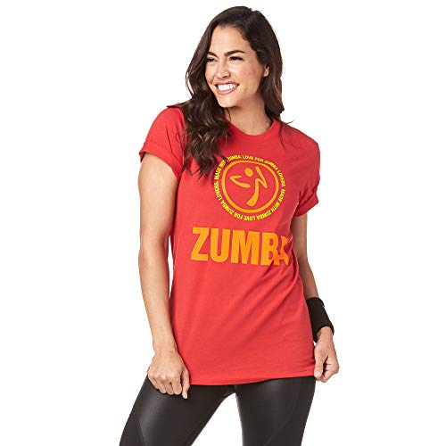 Zumba Breathable Fitness Unisex Workout Printed Graphic Tees for Women and Men