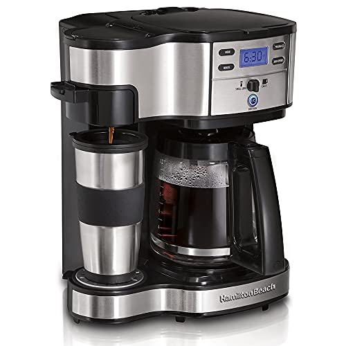 Hamilton Beach 49980A-CE The Scoop Kombi Kaffeemaschine, 950, 1.8 liters, Edelstahl/Schwarz