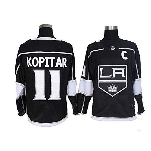 Hockey Jersey, Anze Kopitar # 11 / Wayne Gretzky # 99 Los Angeles Kings Eishockey Trikots NHL Männer Sweatshirts atmungsaktiv T-Shirt (Color : 11, Size : Medium)