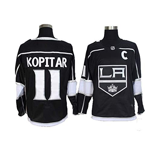 Hockey Jersey, Anze Kopitar # 11 / Wayne Gretzky # 99 Los Angeles Kings Eishockey Trikots NHL Männer Sweatshirts atmungsaktiv T-Shirt (Color : 11, Size : XX-Large)