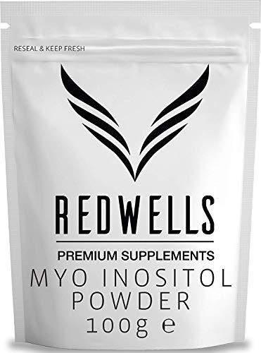 REDWELLS pur (sans additifs) 100 g Myo inositol Poudre pour SOPK et fertilité SANS OGM végétaliens