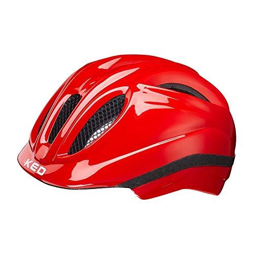 KED Meggy S red - 46-51 cm - inkl. RennMaxe Sicherheitsband - Fahrradhelm Skaterhelm MTB BMX Kinder Jugendliche