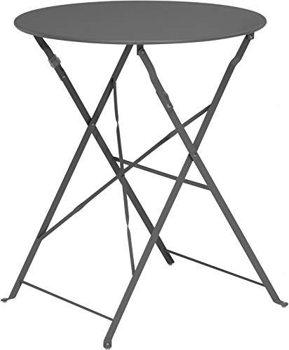 Campingtisch Gartentisch Falttisch Klapptisch Beistelltisch Grau Rund Groß C860
