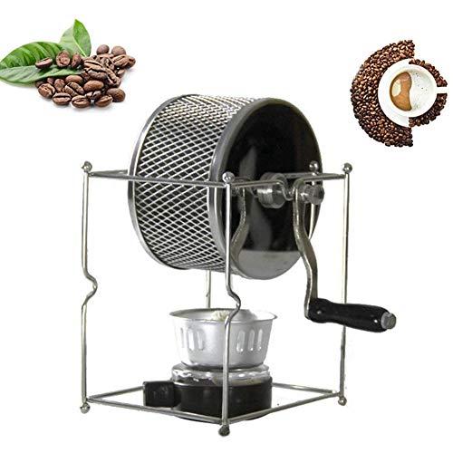 Ttdbd Mini manuelle Kaffeebohnen Röstmaschine, DIY Edelstahlwalzen mit Griff für Erdnusskastanien Bohnen, einfach zu bedienen