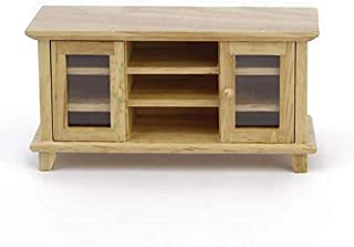 SXFSE Dollhouse TV Cabinet, 1:12 Scale Dollhouse Accessories Miniature Furniture Decor Model, Kids Play Toy