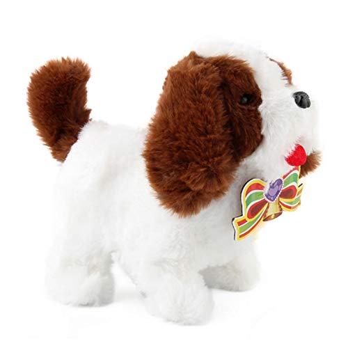 iBaste Elektronischer Hund Plüschtier, Plüsch Hündchen Walking Barking Elektronisches Interaktives Haustierspielzeug Für Kinder Jungen Mädchen