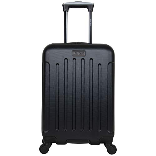 Heritage Travelware Lincoln Park 20' Hardside 4-Wheel Spinner Carry-on Luggage, Black