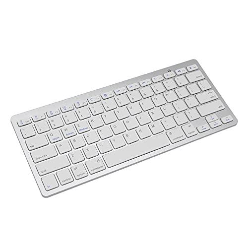 GYY Silver Ultra-Slim 78 Keys Wireless Bluetooth Teclado para Aire para iPad Mini para Mac Computer PC MacBook iBook