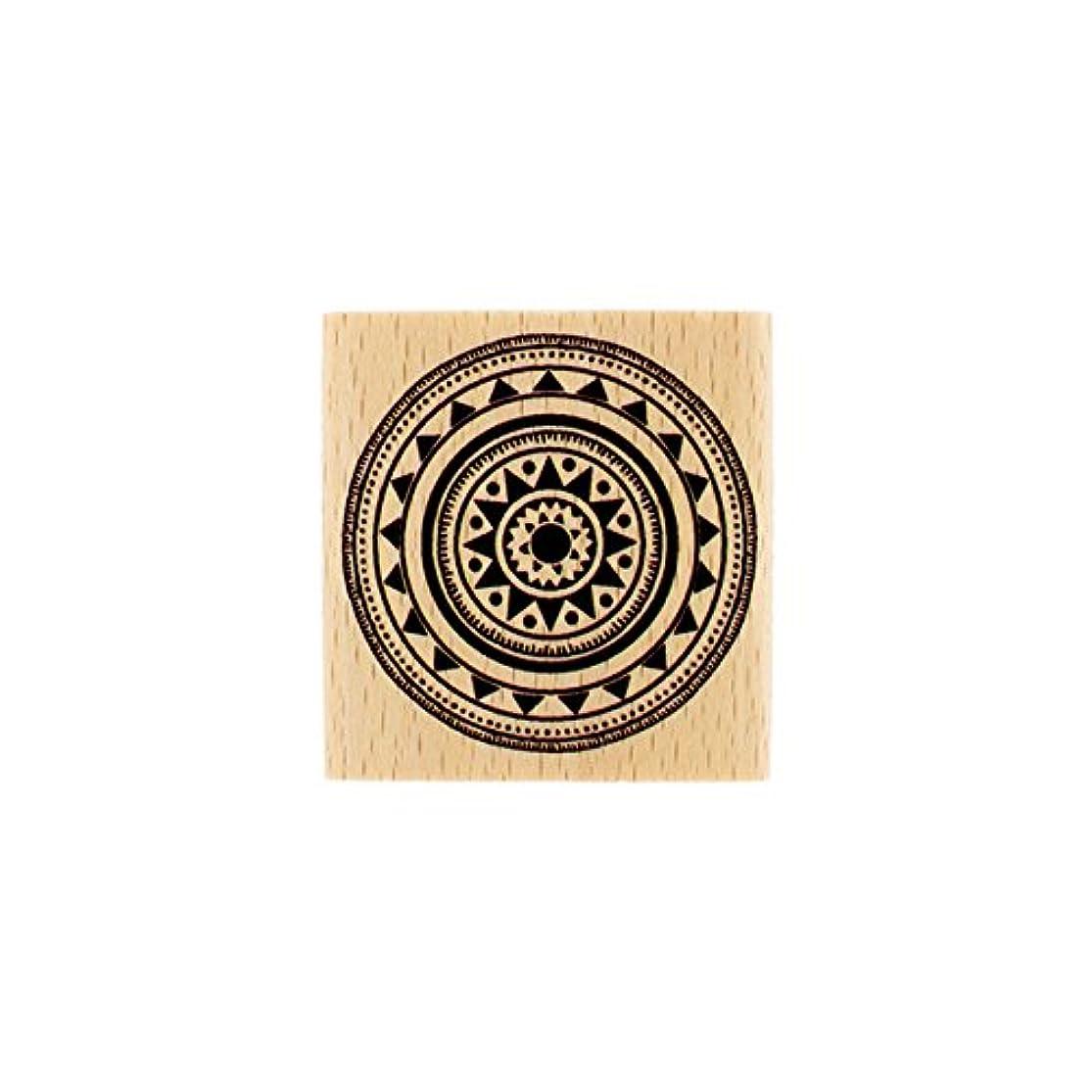 Florilèges Wood Tribal Design fd216004?Stamp Pad 5?x 5?x 2.5?cm kylpjyol7