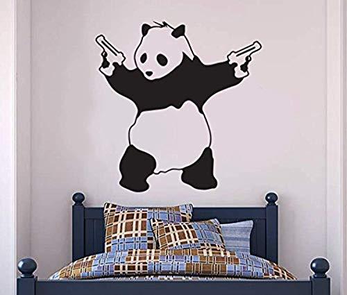 Vinyl Wall Decals Home Decor Banksy Panda Guns Banksy Gangstar Panda Banksy Art Art Home Art Vinyl Decor Sticker BR8495