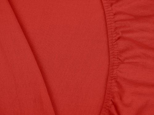 #12 npluseins Kinder-Spannbettlaken, Spannbetttuch, Bettlaken, 70×140 cm, Rot - 5