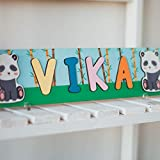 Panda Personalized Wood Name Puzzle With Pegs & Custom...