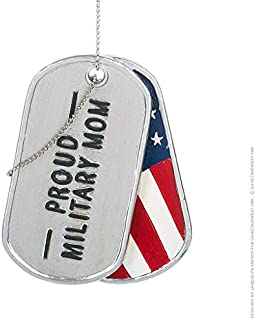 Midwest CBK Ganz 2020 Proud Military Parents Name Tag Christmas Tree Ornament Proud Mom Dad Army Marine Navy Air Force (Pr...