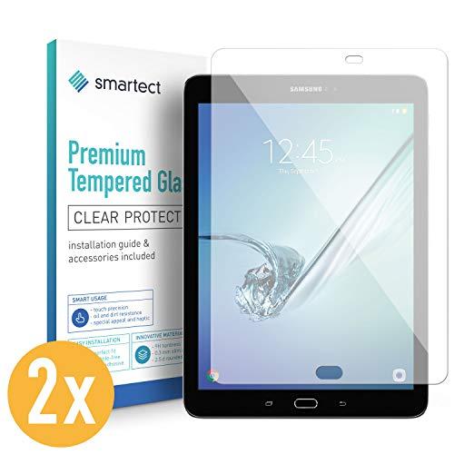 smartect Panzerglas kompatibel mit Samsung Galaxy Tab S2 9.7 [2 Stück] - Displayschutz mit 9H Härte - Blasenfreie Schutzfolie - Anti Fingerprint Panzerglasfolie