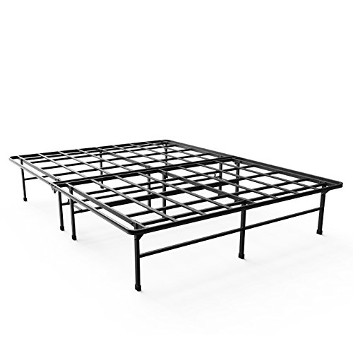 Zinus Demetric 14 Inch Elite SmartBase Mattress Foundation for Big and Tall, Platform Bed Frame ,Sturdy , Noise Free , Non Slip, Queen