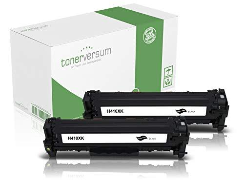 2 Toner kompatibel zu HP CF410X 410X Schwarz für Color Laserjet Pro M452 M452dn M452nw MFP M477fdw M477fnw M377dw Laserdrucker CF410A