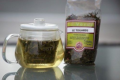 SABOREATE Y CAFE THE FLAVOUR SHOP Té Verde Moruno Le Touareg Gunpowder En Hoja Hebra A Granel Infusión Natural Adelgazante100 gr