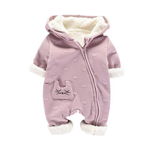 DorkasDE Baby Strampler Schneeanzug Junge Mädchen Overall Jumpsuit Winter Babykleidung mit Kapuze