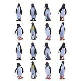 STOBOK 16 Piezas Figuras de Pingüino Realistas Figuras de Pingüino Juguetes Toppers de Pastel de Cumpleaños Juguetes de Aprendizaje Educativo para Niños