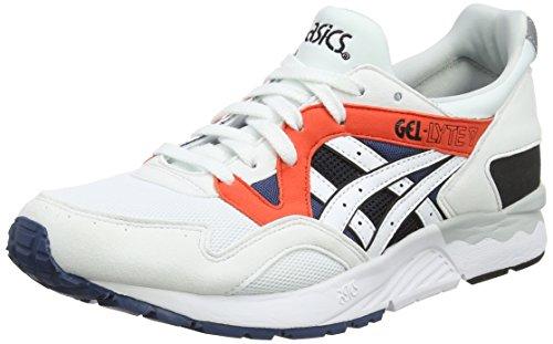 Asics Gel-Lyte V, Zapatillas para Hombre, Blanco (White/White 0101), 44 EU